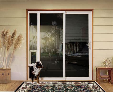sliding doors  pet access custom home magazine products doors exteriors hardscape