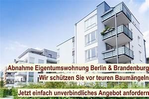 Mängelanzeige Nach Abnahme : abnahme eigentumswohnung etw abnehmen beratung ~ Frokenaadalensverden.com Haus und Dekorationen