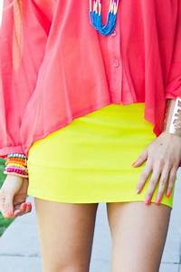 Best 25 Neon yellow skirts ideas on Pinterest
