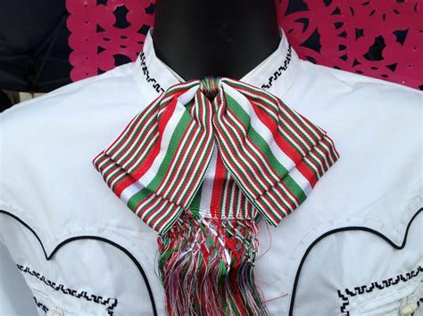Mexican Bow Tie Charro and Mariachi Tricolor Adult From