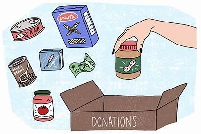 Cartoon Donation Box Clipart Happy Person Need