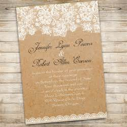 rustic lace wedding invitations vintage floral lace wedding invitations ewi270 as low as 0 94