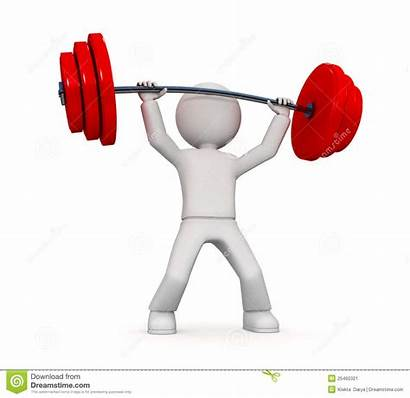 Lifting Person Power Weights Persona Clipart Potenza