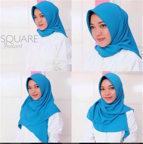 model hijab segi empat instan tutorial hijab terbaru