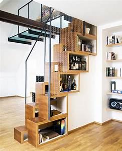 Étagère De Séparation : etagere de separation en bois escalier ~ Nature-et-papiers.com Idées de Décoration