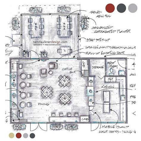 Floor Layout Of An Cafe by Coffee Shop Remodel Floor Plan Option 1 3
