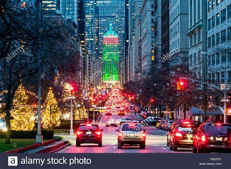 christmas decoration around nyc new york streets park avenue new york city