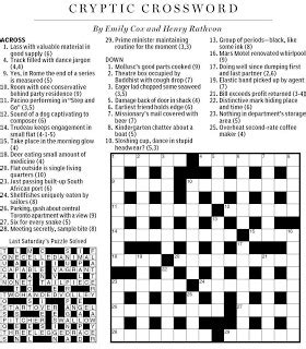 Motorboats With Accommodation Crossword Clue by National Post Cryptic Crossword Forum Saturday March 17