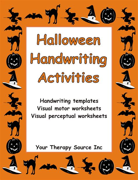 halloween handwriting activities ebooks education