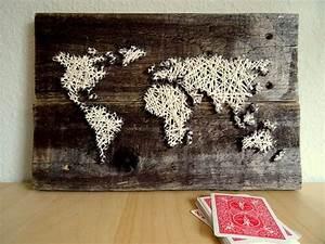 Weltkarte Bild Holz : weltkarte vintage look holz und wolle 26x35cm 10 2 x13 ~ Lateststills.com Haus und Dekorationen