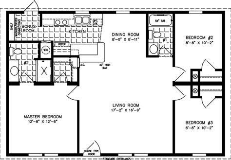 3 bedroom 2 bath mobile home floor 1000 to 1199 sq ft manufactured home floor plans