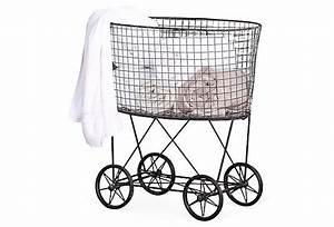 Wire Laundry Basket w/ Wheels | Laundry Baskets, Wheels ...