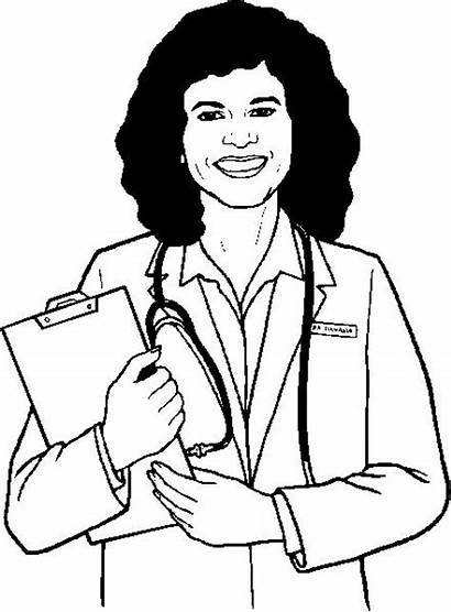 Doctor Coloring Nurse Pages Jobs Colouring Need