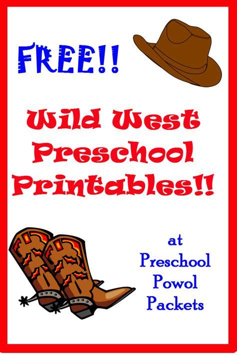 free west printables preschool powol packets 221 | free%2Bwild%2Bwest%2Bprintables