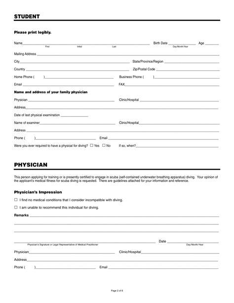 Medical form – AQUASPORT DIVING