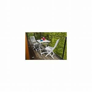 Table De Jardin 2 Personnes : salon de jardin 2 personnes bois blanc table balcon 60 x ~ Dailycaller-alerts.com Idées de Décoration