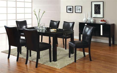 Black Dining Room Sets by Lamia I Black High Gloss Rectangular Leg Dining Room Set