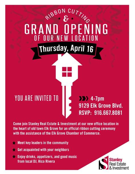 stanley real estate investments official grand opening