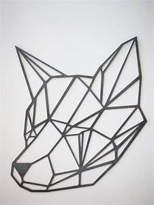 Steel Geometric Fox Wall Art by FactoryCustomFab on Etsy ...