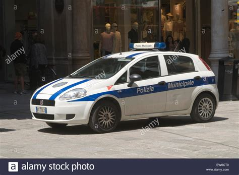 Fiat Punto Police Car Cars Italy Italian Stock Photo