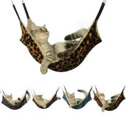 cat hammocks for cat hammock large leopard fur bed animal hanging cat cage