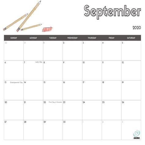 printable calendar  kids imom
