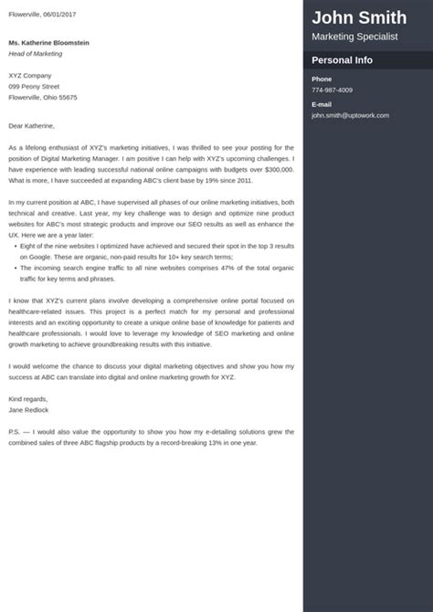 The Best Cover Letter Template by 20 Cover Letter Templates Create Your Cover