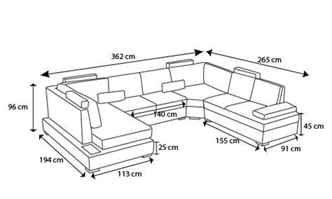 dimensions canapé canapé d 39 angle panoramique en cuir lowing avec