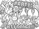 Poppy Coloring Dance Lets sketch template