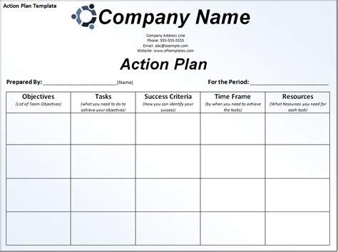 Business Action Plan Template Free Download   Karen's Blog