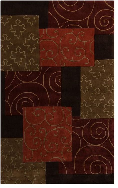 Burnt Orange And Brown Bathroom Rugs by Contemporary Cosmopolitan 5 X8 Rectangle Brown
