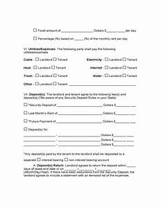 Residential Lease Template Free West Virginia Residential Lease Agreement Free Download
