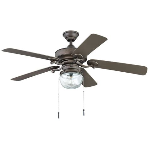 home depot ceiling fans with lights home decorators collection bromley 52 in led indoor