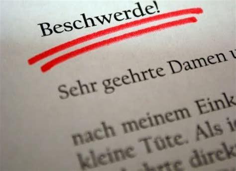 deutsch im kopf sich schriflich beschweren