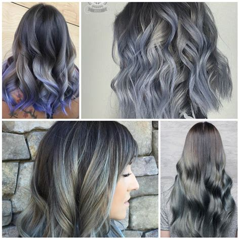 Different Shades Of Black Hair Color by Different Shades Of Grey Hair Color For 2018 Best Hair