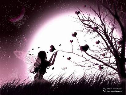Moon Night Angle Romance Think Fairy Angels