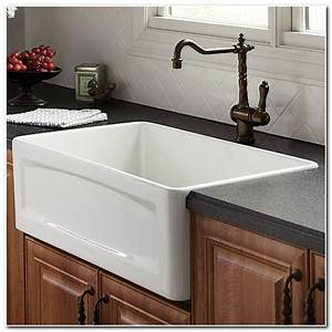 30 inch apron front kitchen sink sink and faucet home With 30in farmhouse sink