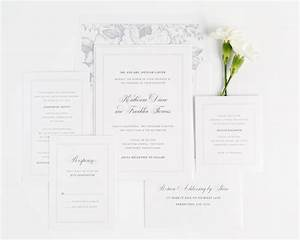 simple and classic wedding invitations in dove gray With classic wedding invitations com