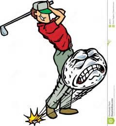 Golfer Hitting Golf Ball Clip Art