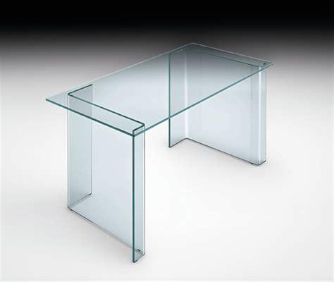 bureau en verre fly console de bureau en verre