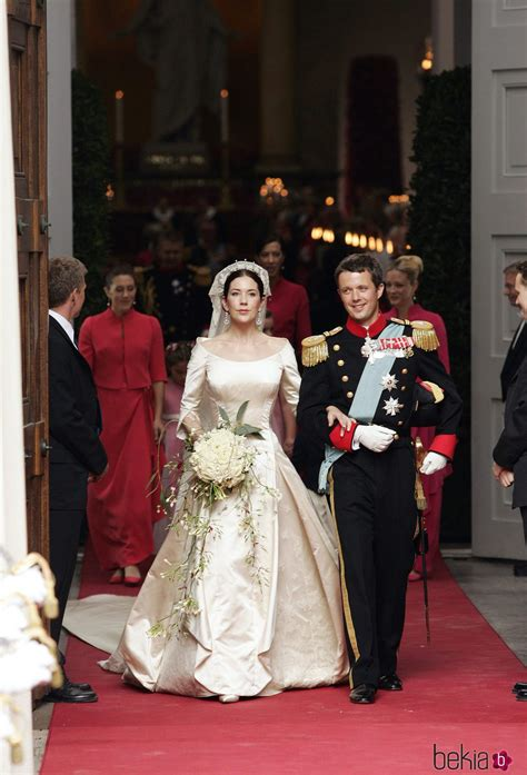federico  mary de dinamarca en su boda la familia real de dinamarca en imagenes foto en