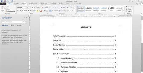 membuat daftar isi otomatis  skripsi makalah  jurnal  microsoft word