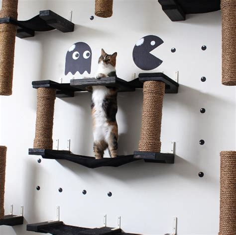 creative cat furniture unique cat furniture turns dull wall spaces into lively playspaces for tabbies designtaxi com
