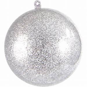 Boule Noel Transparente : grande boule transparente paillet e argent ~ Melissatoandfro.com Idées de Décoration