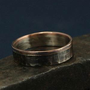 14k white and rose gold ring the centurion bicolor band With 14k white gold hammered wedding band ring