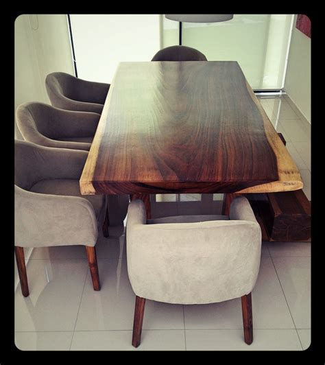 comedor de madera de parota   personas muebles