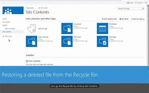 renaming deleting and restoring items in a sharepoint With sharepoint document library delete