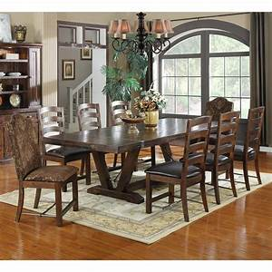 emerald, home, castlegate, extra, long, trestle, dining, table, with, 16, in, , end, leaves