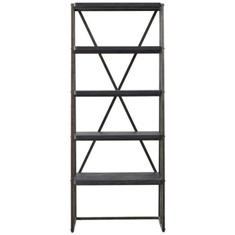 Slanted Bookcases by Beaumont 4 Shelf Slanted Bookcase In Black Walmart