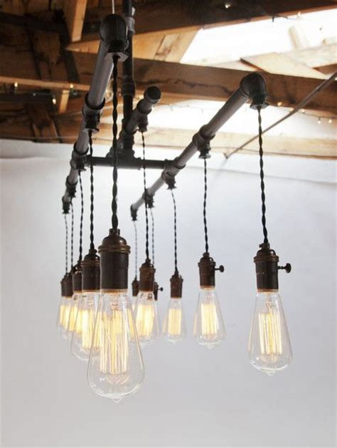 commercial chandelier lighting fixtures industrial rustic pipe chandelier 12 light plumbing